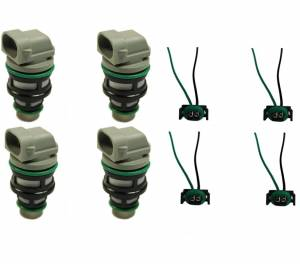 FJ100 TJ13 Tj14 Set of 4 Pigtail Wire Harness Connector for Chevy Chevrolet