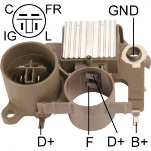 Transpo - New Alternator Regulator for HONDA CIVIC CRX - IM273
