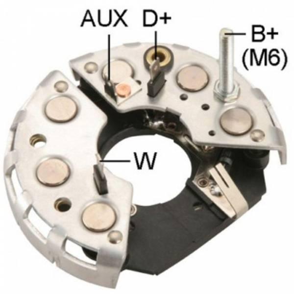 Transpo - New Alternator Rectifier for BOSCH SERIE 489 VOLVO 6 DIODOS - IBR301