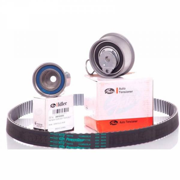 Korean Parts - New OEM Gates HTD Timing Belt Kit for 05-10 Hyundai Kia 2.0L G4GC G4GF