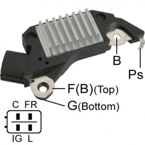 Transpo - New Alternator Regulator for DELCO CS130D HONDA Y ACURA 97-2003 - D9715