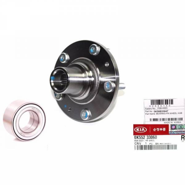 Korean Parts - New OEM Wheel Hub & Bearing Kit Fits 02-05 Kia Sedona for Front OEM 0K552-33060