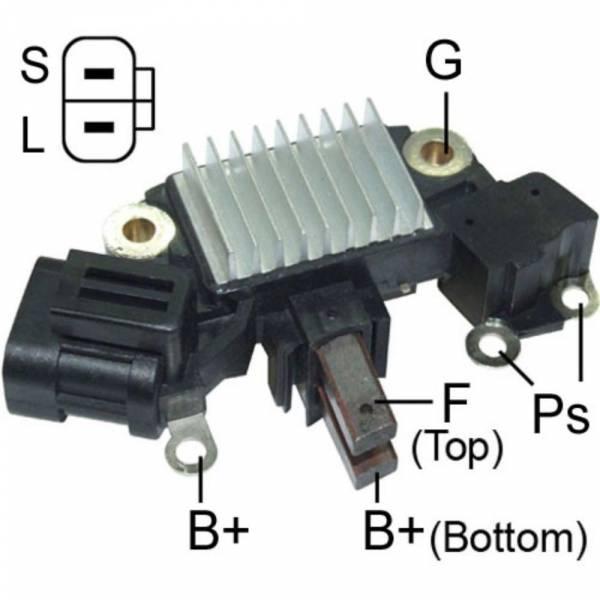 Transpo - New Alternator Regulator for NISSAN IMA 2.5 12V 110 AMP - IH744