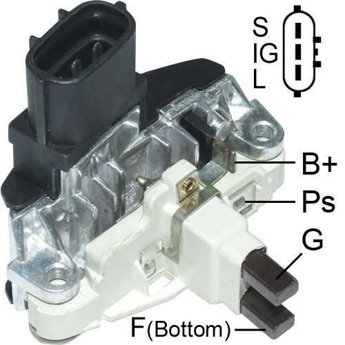 Transpo - New Alternator Regulator for FIAT IVECO STRALIS 24V P, BOSCH - IB543