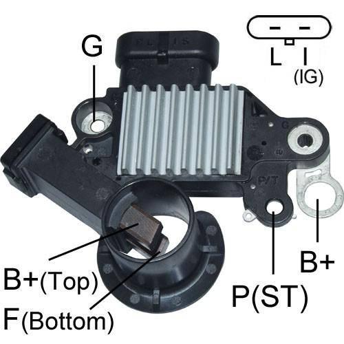 Transpo - New Alternator Regulator for Chevrolet Optra Aveo Captiva 2 PINS - D2206