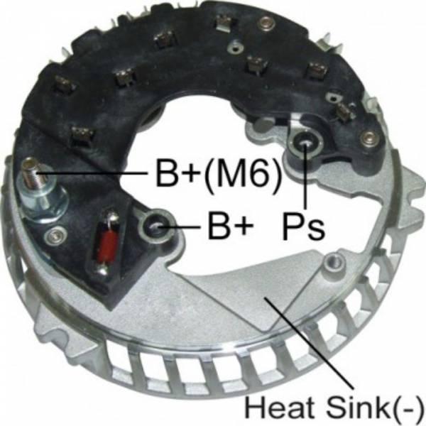 Transpo - New Alternator Rectifier for 6G 105-110 AMP FORD VISTEON, MERCURY - FR6013