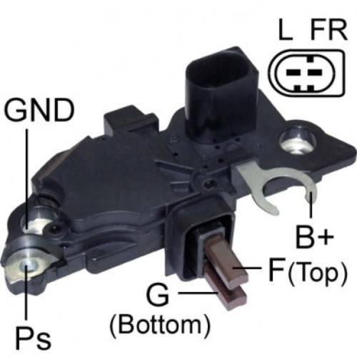 Transpo - New Alternator Regulator for V.W GOL 99 MERCEDES 711 2 PINES - IB261