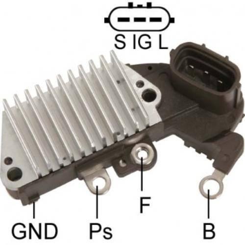 Regitar - Voltage Regulator for Nipondenso Toyota,Lexus Alr Lester 13409, 13486, 13487, 13489, 13497, 13512, 13536, 13673