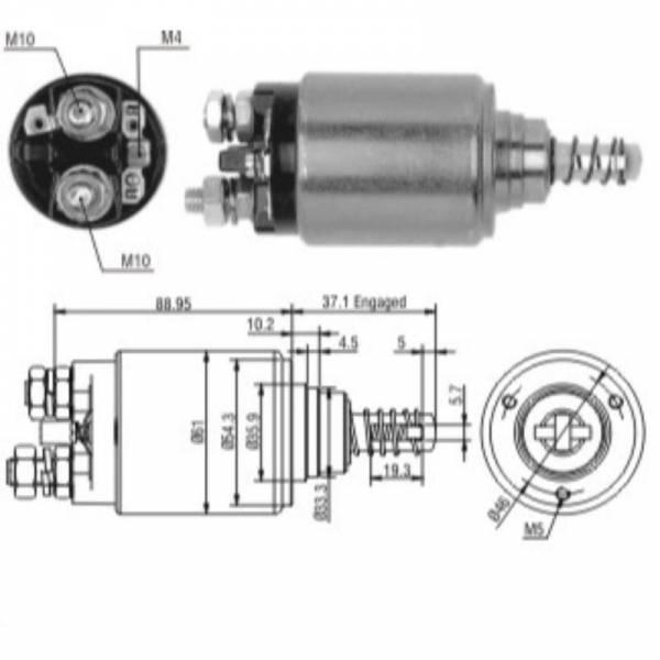 ZM - New Starter Solenoid Relay For Bosch 3T 12V
