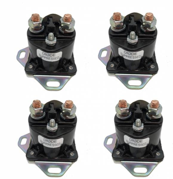 Made in USA - Set of 4 Ford Starter Solenoid Relay Switch for Ford SW1951 - Assembled in USA