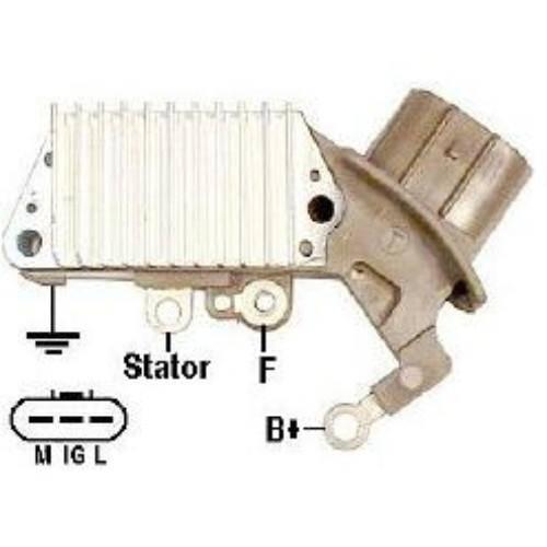 Transpo - New Alternator Regulator for TOYOTA YARI 1.5 2000, 2002 - IN447