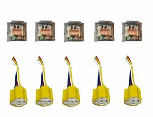DTS - Set of 10 12V Automotive Relay 5 Pin 5 Wires LED w/Harness Socket 80/90 Amp - Image 2
